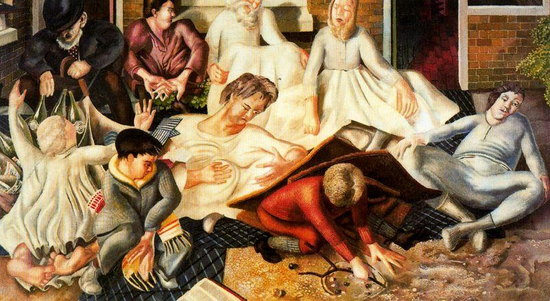 村人と聖人1 バイ Stanley Spencer (1891-1959, United Kingdom) | ArtsDot.com
