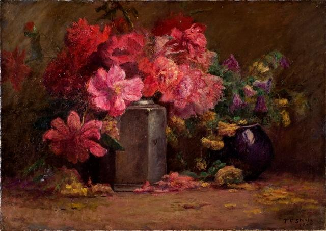 花束 の 花 バイ Theodore Clement Steele (1847-1926, United States)
