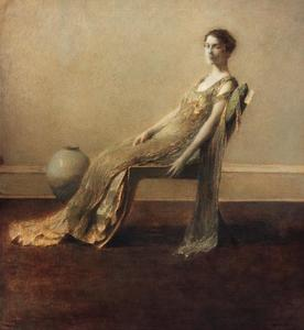 Thomas Wilmer Dewing - 緑 と 金
