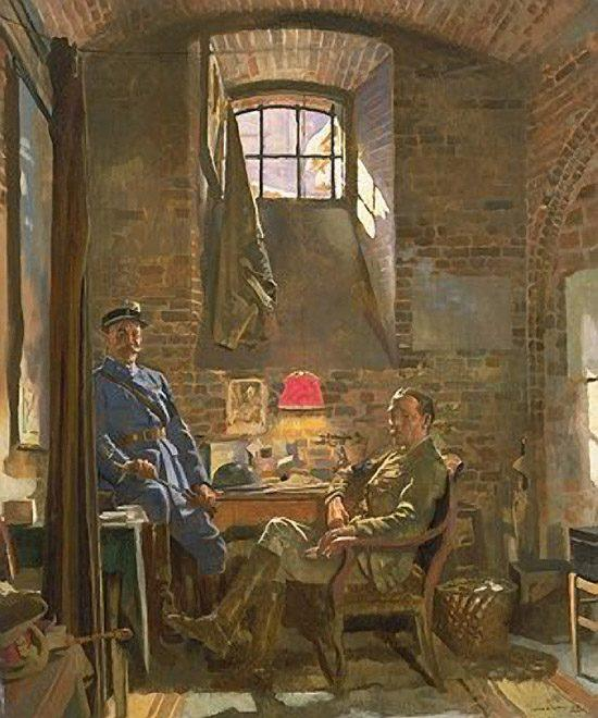セラー、アミアン バイ William Newenham Montague Orpen (1878-1931, Ireland)