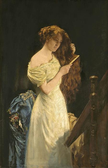 女性らしさの栄光 バイ Thomas Benjamin Kennington (1856-1916, United Kingdom)