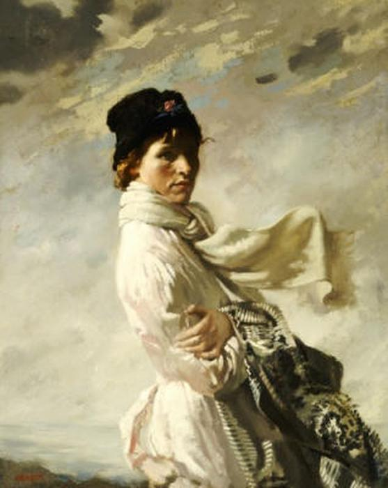 ダブリン湾の, 1909 バイ William Newenham Montague Orpen (1878-1931, Ireland)
