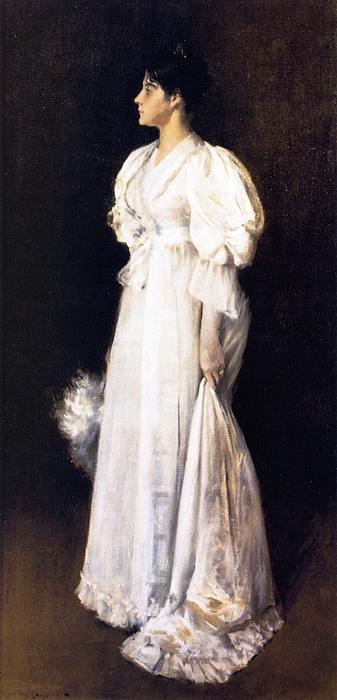 女性 インチ 白, 1894 バイ William Merritt Chase (1849-1916, United States) | ArtsDot.com