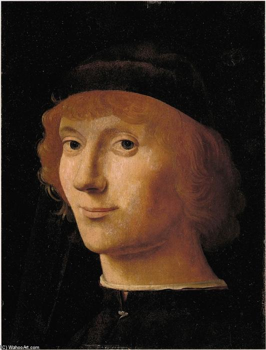 男の肖像, オイル バイ Antonello Di Giovanni Di Antonio (Antonello Da Messina) (1430-1479, Italy)