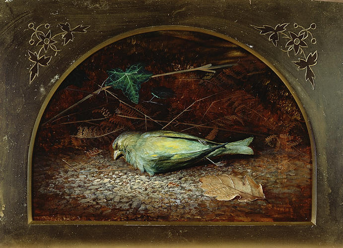 A 死んだ リネット, オイル バイ John Atkinson Grimshaw (1836-1893, United Kingdom)