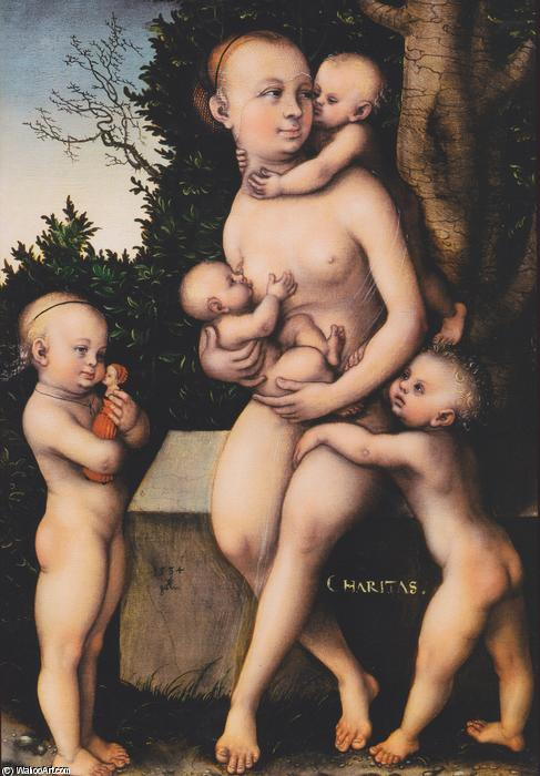 チャリティ, 1534 バイ Lucas Cranach The Elder (1472-1553, Germany)