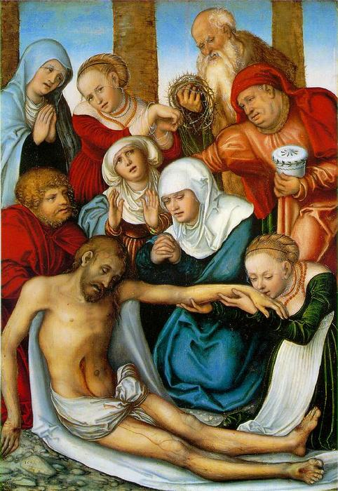 悲嘆, 1538 バイ Lucas Cranach The Elder (1472-1553, Germany)
