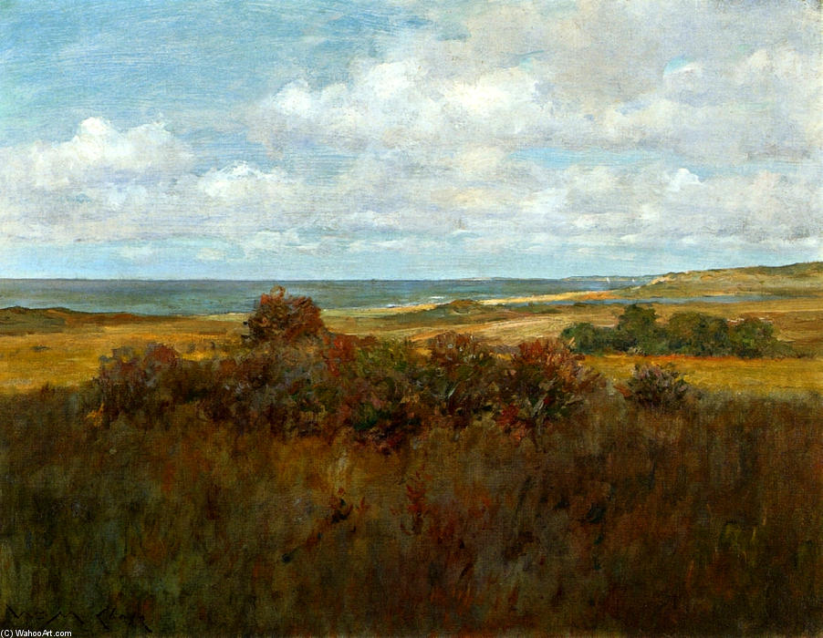 Shinnecock風景04, キャンバスに油彩 バイ William Merritt Chase (1849-1916, United States)