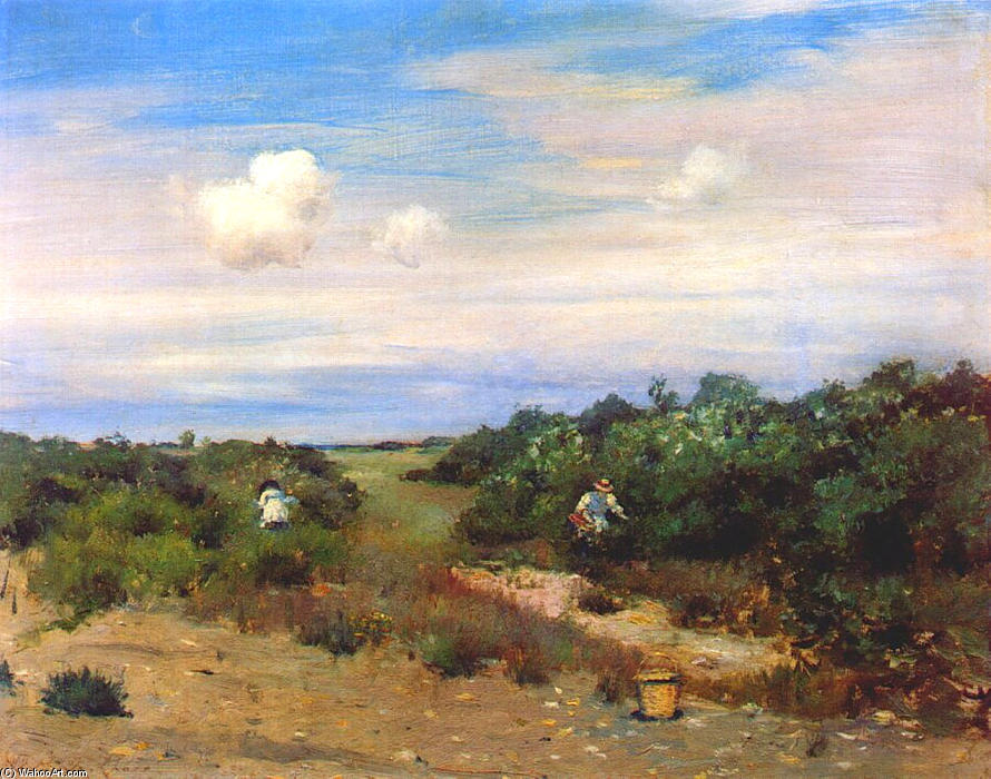 shinnecock` ヒルズ, 長い 島, 1895 バイ William Merritt Chase (1849-1916, United States)