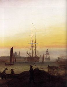 Caspar David Friedrich - Greifwald ハーバー