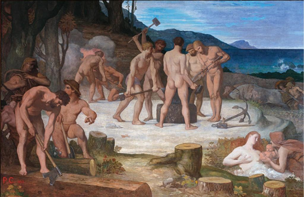 ル苦労, 1863 バイ Pierre Puvis De Chavannes (1824-1898, France)