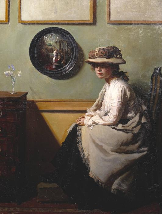 ザー ミラー, 1900 バイ William Newenham Montague Orpen (1878-1931, Ireland) | 「額入りプリント | ArtsDot.com