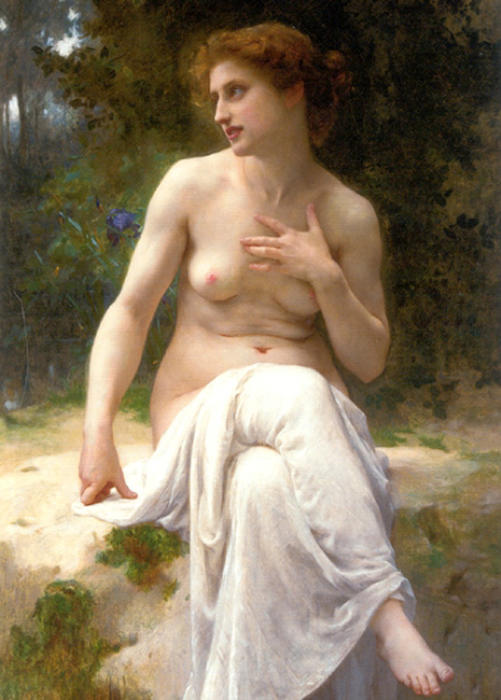 NYMPHE, キャンバスに油彩 バイ Guillaume Seignac (1870-1924, France)