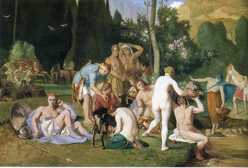 ピース, 1867 バイ Pierre Puvis De Chavannes (1824-1898, France)