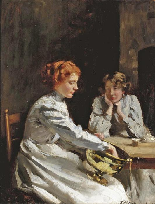 真鍮研磨 バイ Thomas Benjamin Kennington (1856-1916, United Kingdom)