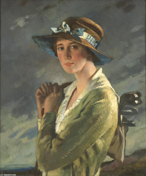 ドリースタイルズの肖像 バイ William Newenham Montague Orpen (1878-1931, Ireland)