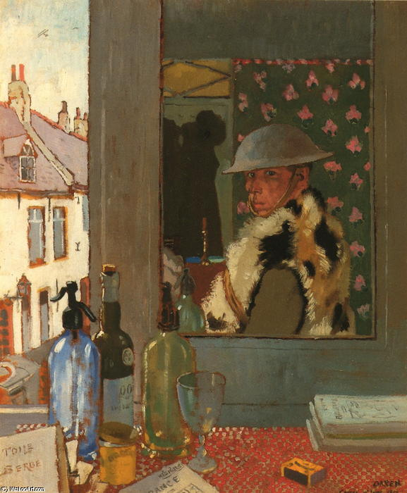 開始する準備ができて, 1917 バイ William Newenham Montague Orpen (1878-1931, Ireland)