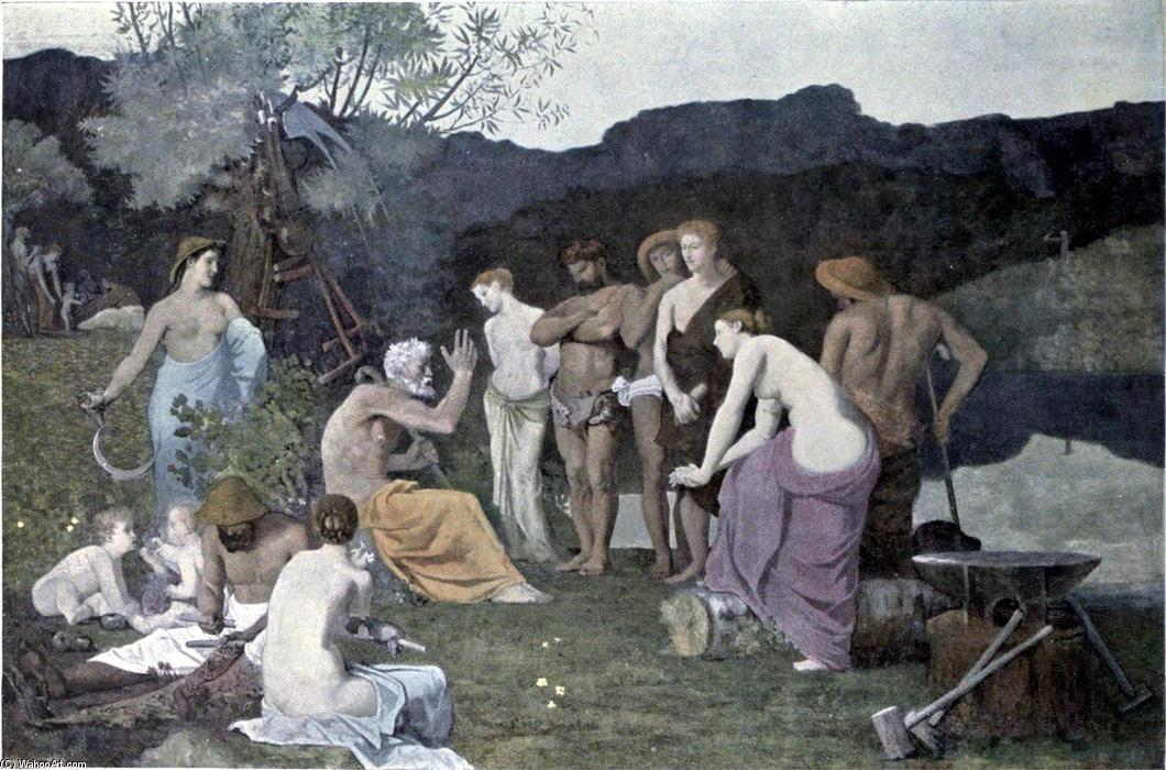 ザー 残り  バイ Pierre Puvis De Chavannes (1824-1898, France) | 傑作コピー | ArtsDot.com