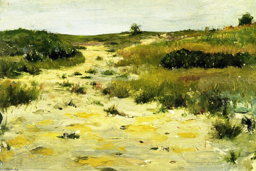 Shinnecockヒルズ(8), パネルに油絵 バイ William Merritt Chase (1849-1916, United States)