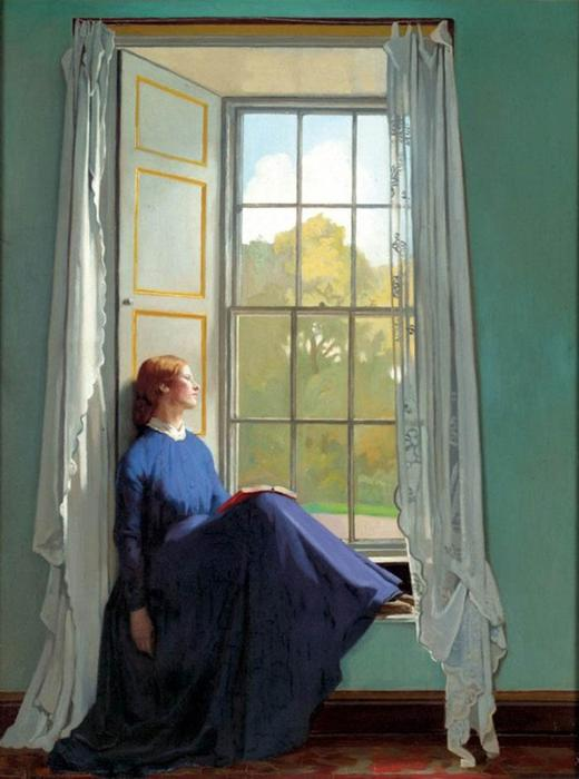 窓側の席, 1901 バイ William Newenham Montague Orpen (1878-1931, Ireland)