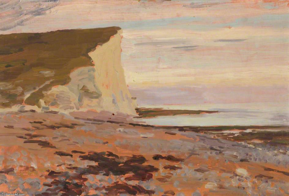 Cuckmere 避難所 , 'the 白 Cliffs' バイ Duncan Grant (1885-1978, Scotland)