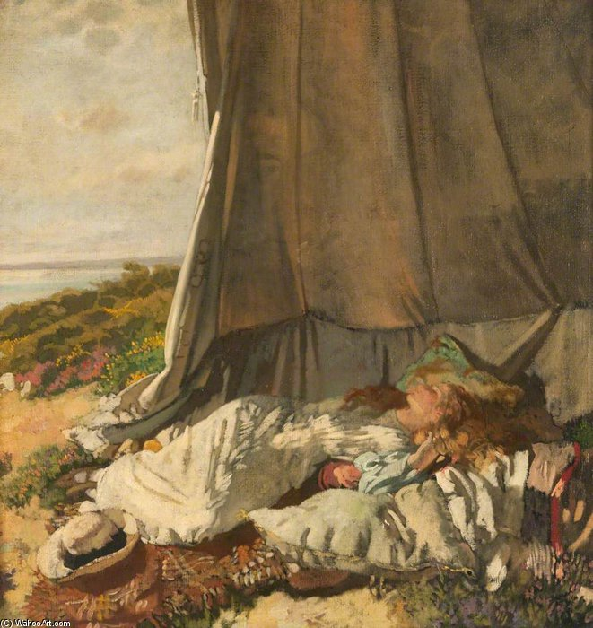 午後 眠る バイ William Newenham Montague Orpen (1878-1931, Ireland) | 絵画の複製 | ArtsDot.com