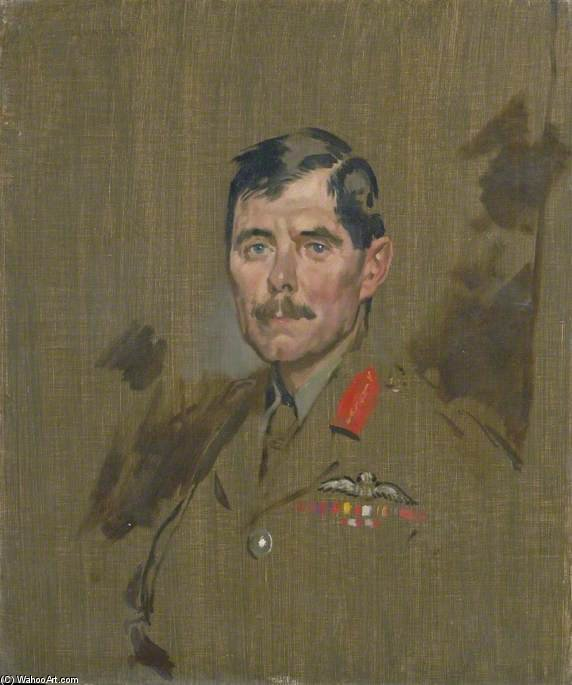 少将ヒューM.トレンチャード バイ William Newenham Montague Orpen (1878-1931, Ireland)