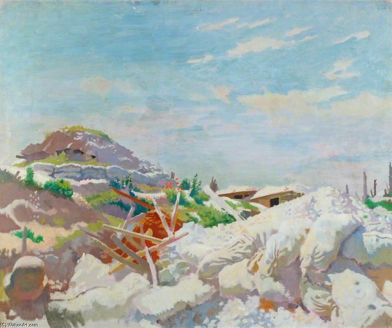 アーセナル シェルター、Thiepval バイ William Newenham Montague Orpen (1878-1931, Ireland)