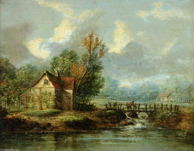 風景 バイ Patrick Nasmyth (1787-1831, United Kingdom)