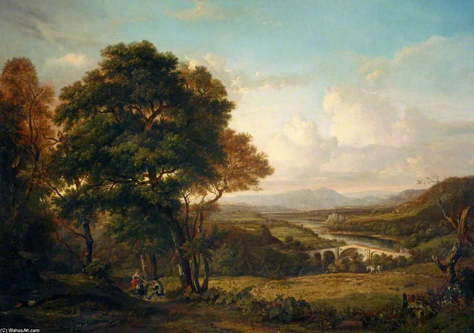ザー 谷 の TWEED バイ Patrick Nasmyth (1787-1831, United Kingdom)