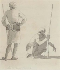 Thomas And William Daniell - Hindoos ランス Seapoys