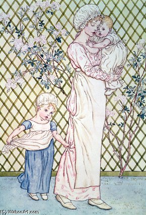 母 と 子供 バイ Kate Greenaway (1846-1901, United Kingdom)