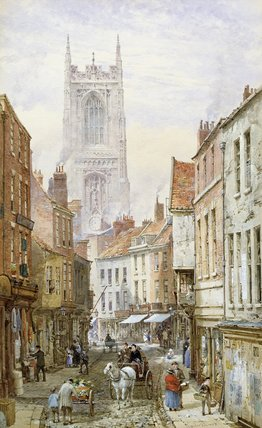 Irongate、ダービーの眺め バイ Louise Rayner (1832-1924, United Kingdom)