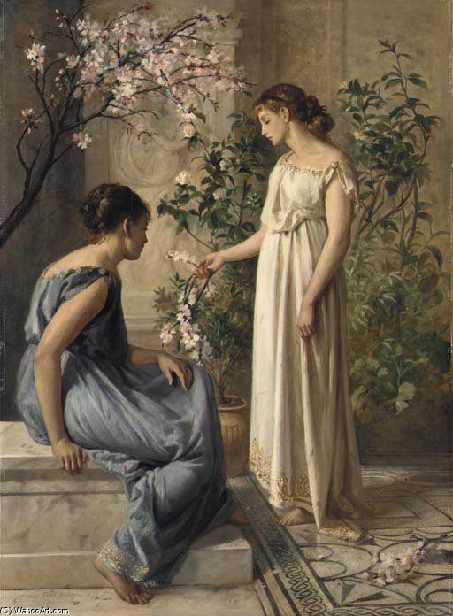 春の花 バイ Henry Thomas Schafer (1873-1915, France)