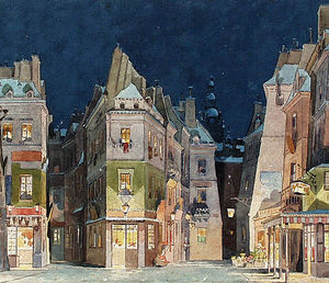 Adolf Hohenstein - A パリ Street