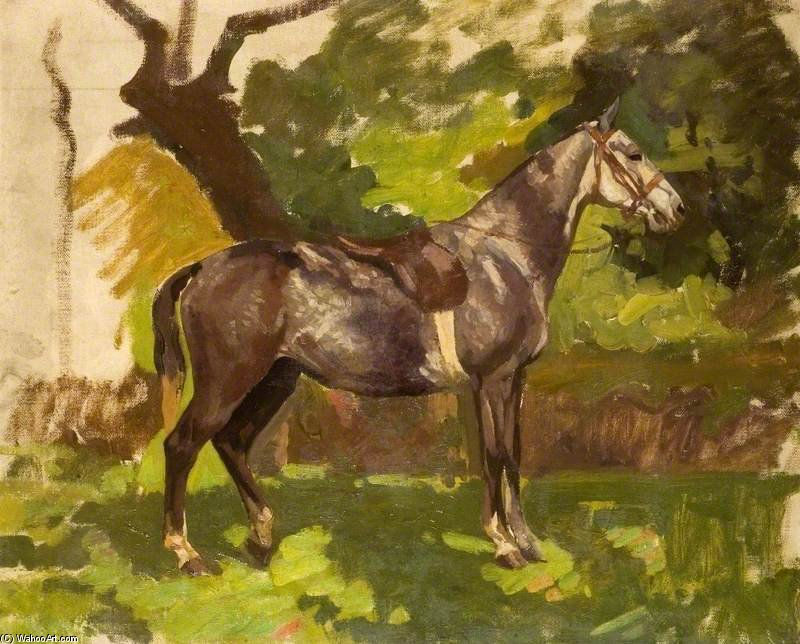 グレー 馬 バイ Algernon Talmage (1871-1939, United Kingdom)