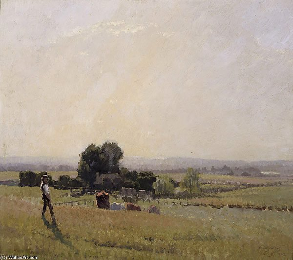 朝 ライト バイ Elioth Gruner (1882-1939, New Zealand) | ArtsDot.com