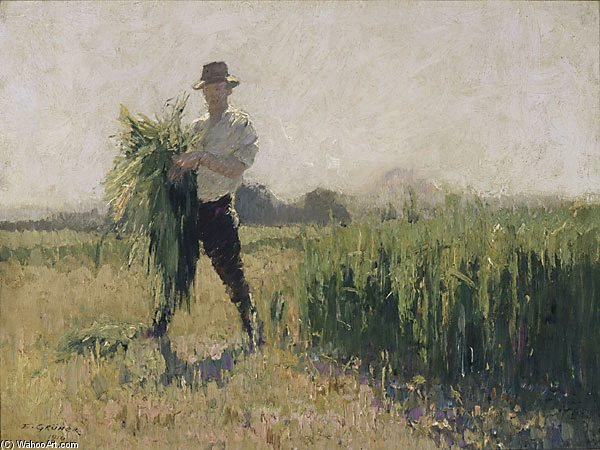 夏 朝 バイ Elioth Gruner (1882-1939, New Zealand) | ArtsDot.com