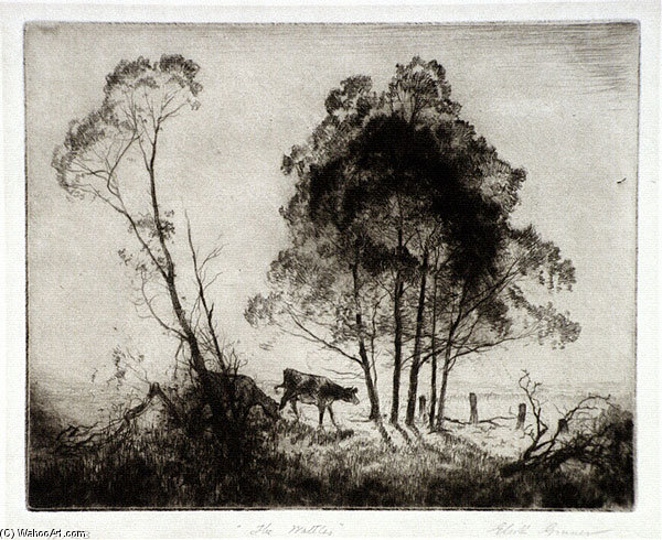 Wattles - バイ Elioth Gruner (1882-1939, New Zealand) | ArtsDot.com
