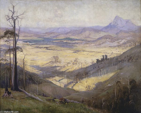 ツイードの谷 バイ Elioth Gruner (1882-1939, New Zealand) | ArtsDot.com