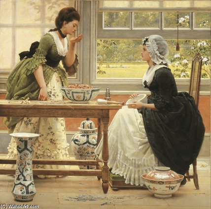 ポットポプリ バイ George Dunlop Leslie (1835-1921, United Kingdom)