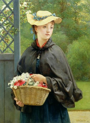 庭師の娘 バイ George Dunlop Leslie (1835-1921, United Kingdom)