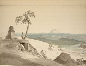 Thomas And William Daniell - 寺の近くベナレス