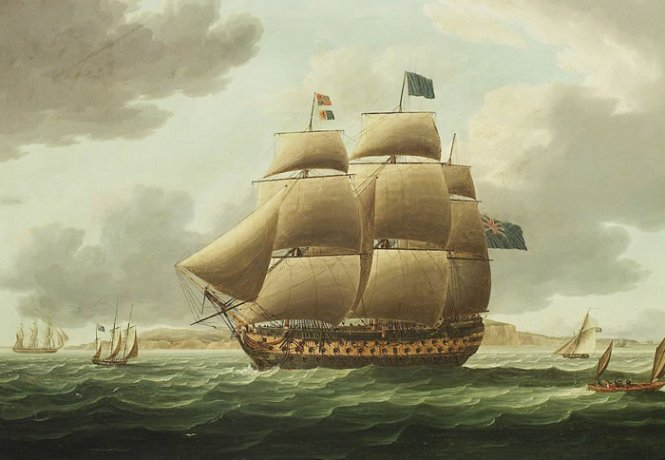 HMSヴィルドゥパリ バイ Thomas Buttersworth (1768-1842, United Kingdom)