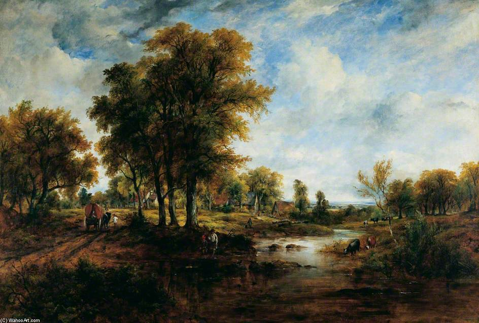 風景 バイ Frederick Waters Watts (1800-1870, United Kingdom)