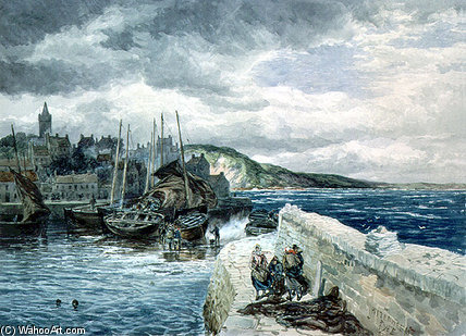 Pittenweem、ファイフ バイ Samuel Bough (1822-1878, United Kingdom)