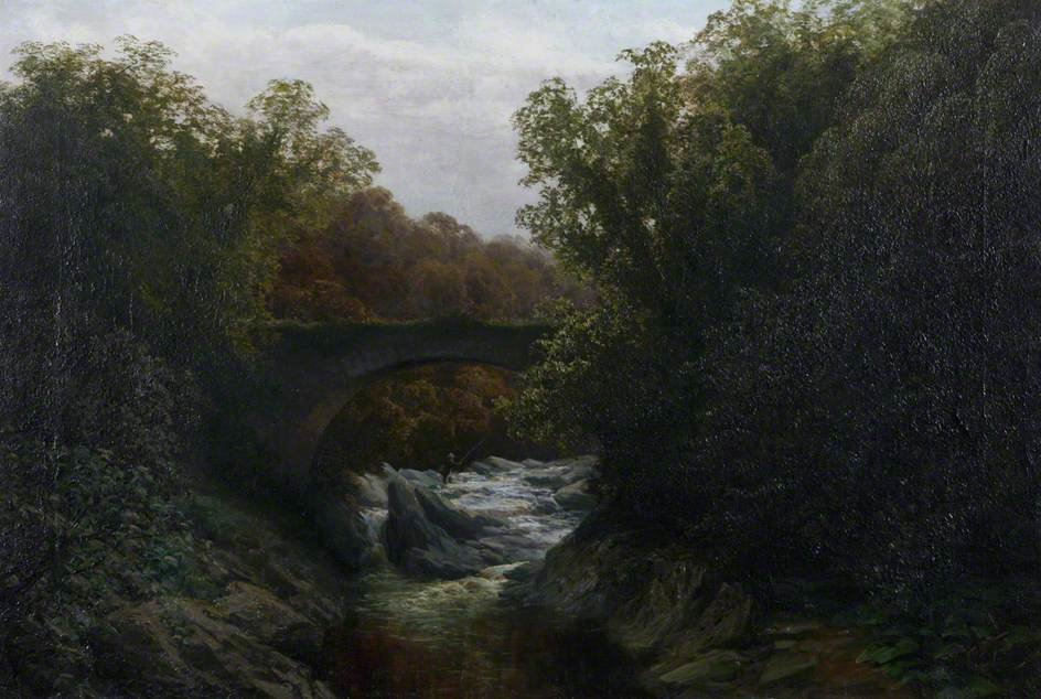 カリーの旧橋 バイ David Farquharson (1839-1907, United Kingdom)