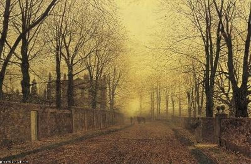 秋 バイ John Atkinson Grimshaw (1836-1893, United Kingdom)