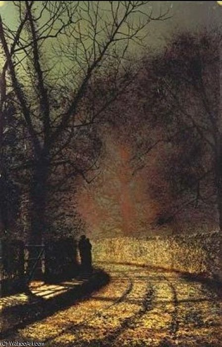 恋人 バイ John Atkinson Grimshaw (1836-1893, United Kingdom)