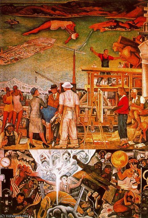 年無題 1262 バイ Diego Rivera (1886-1957, Mexico)